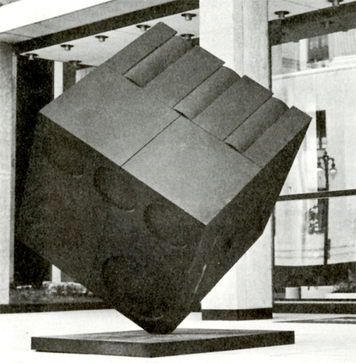 Tony Rosenthal Cube in Seven Parts